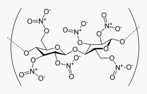 molécule de nitrocellulose