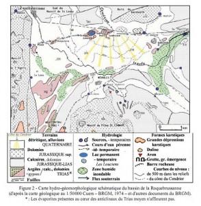 Carte hydro-géomorphologique d'après Jean Nicod