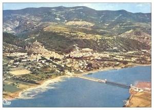 Le pont de 1949 et le lac de Volonne