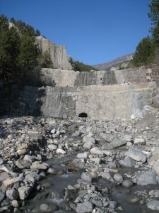 Barrage sur le Vallauria