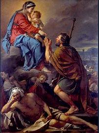 Louis David - St Roch implorant la Vierge pour les pestiférés